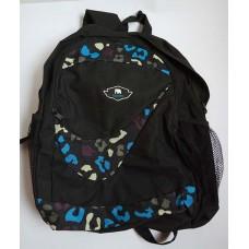 Рюкзак подростковый на молнии черно-синий