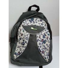 Рюкзак подростковый на молнии черно-белый
