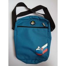 Smiley наплечная сумка на молнии голубая