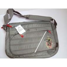 Для ноутбука наплечная сумка серая